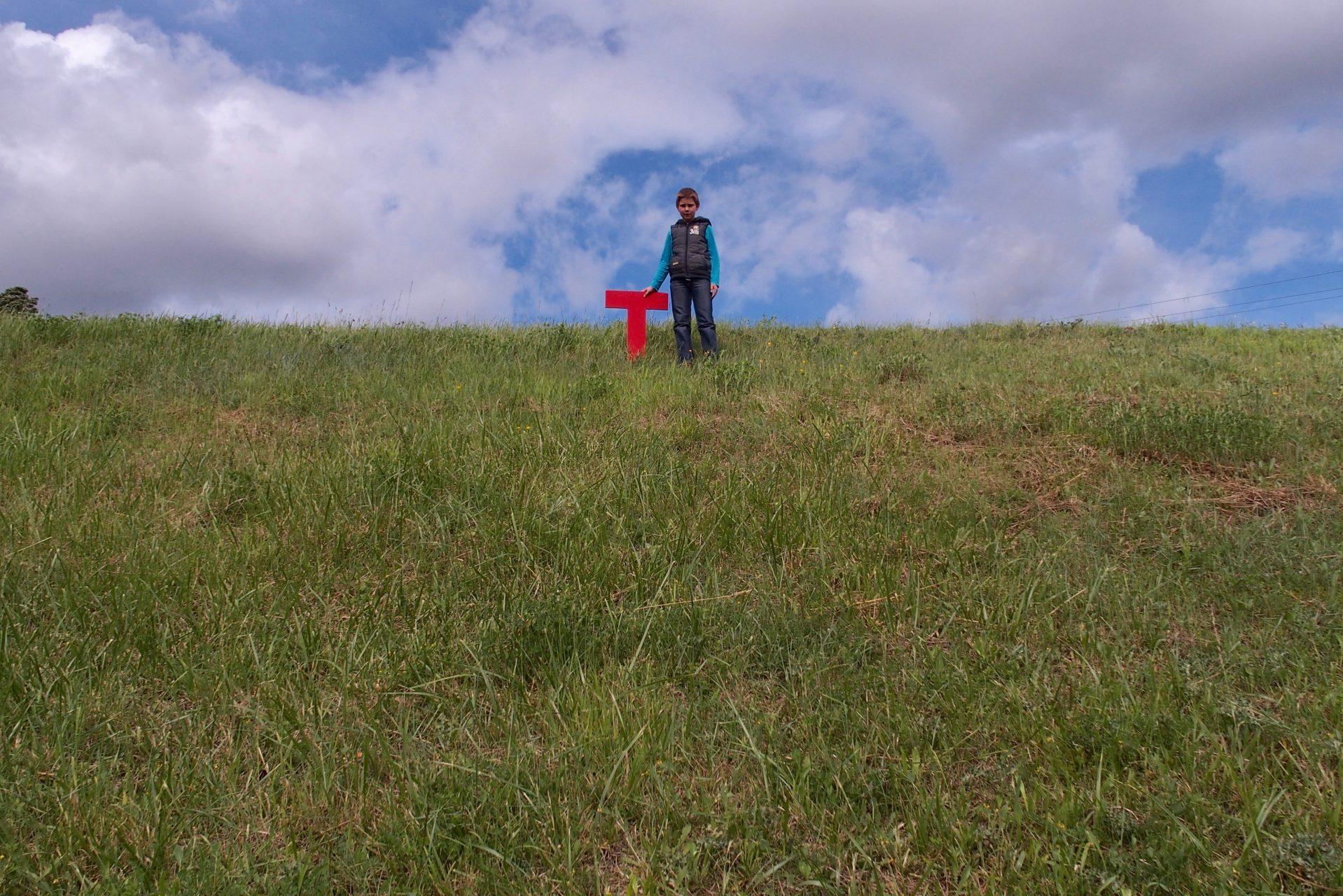 écriture sur paysage